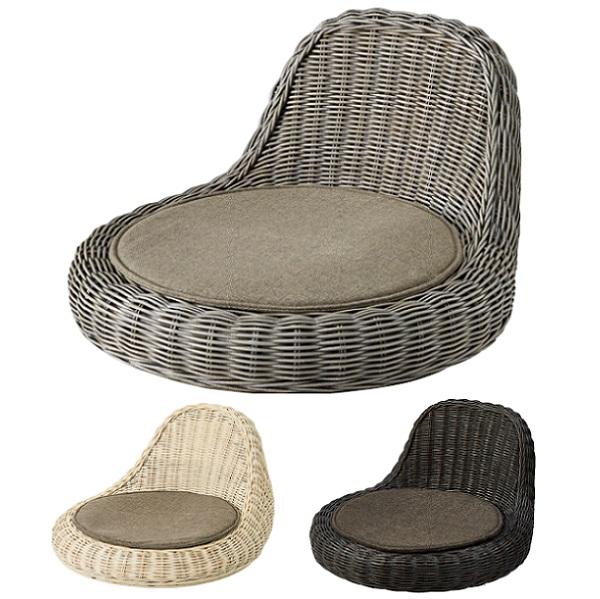 座椅子 ラタン ラタンチェア 一人掛け 1人掛け フロアチェア 籐 おしゃれ アジアンテイスト シンプル モダン
