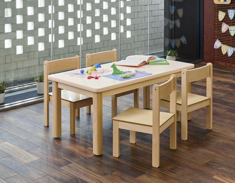 キッズテーブル&キッズチェア5点セット 幼稚園 保育園 業務用 かわいい オシャレ シンプル ミニテーブル ミニチェア 子供椅子 いす