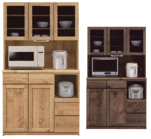食器棚105 モイス付 オープンボード オープン食器棚 105cm幅 ナチュラル・ブラウン 耐震ラッチ付き