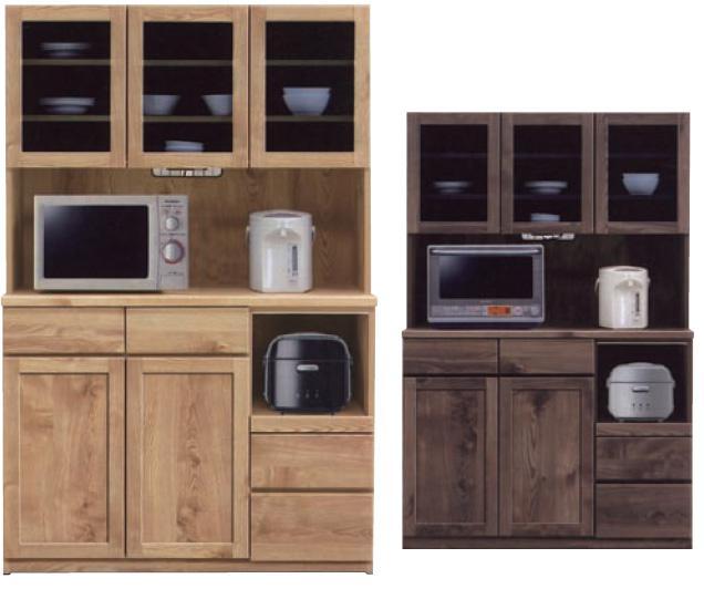 食器棚120 チャトラ モイス付 オープンボード オープン食器棚 120cm幅 ナチュラル 耐震ラッチ付き