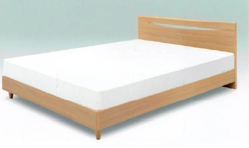 ベッド ダブル フレームのみ フロロ マット別売り ダブルベット シンプル 北欧シンプル 北欧 木製 フレームのみ