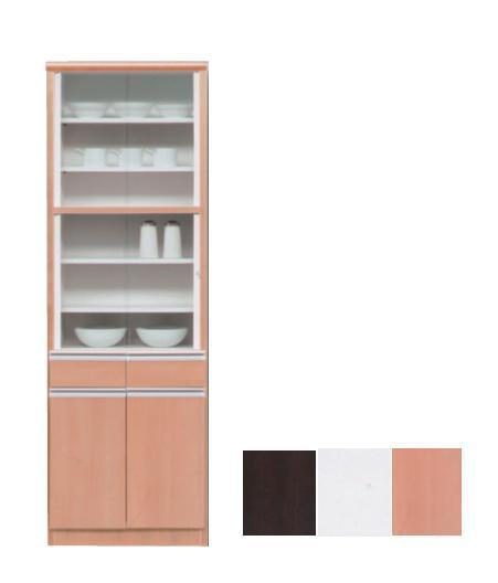 【日本製】食器棚60cm 60cm幅 完成品 ハイタイプ食器棚 食器棚  ホワイト・ナチュラル・ブラウン
