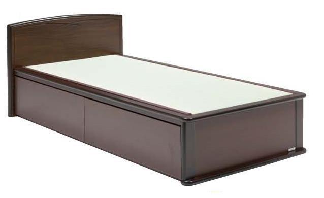 【smtb-kd】ナンシーダブル(フラット)畳ベッド ダブルサイズ 引出し付き(入深)