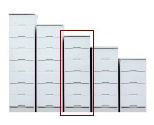 スリムチェスト ハイチェスト すき間家具 40-6 40cmスキマ収納 スリムチェスト 完成品  ホワイト スリム収納 すき間収納 隙間収納