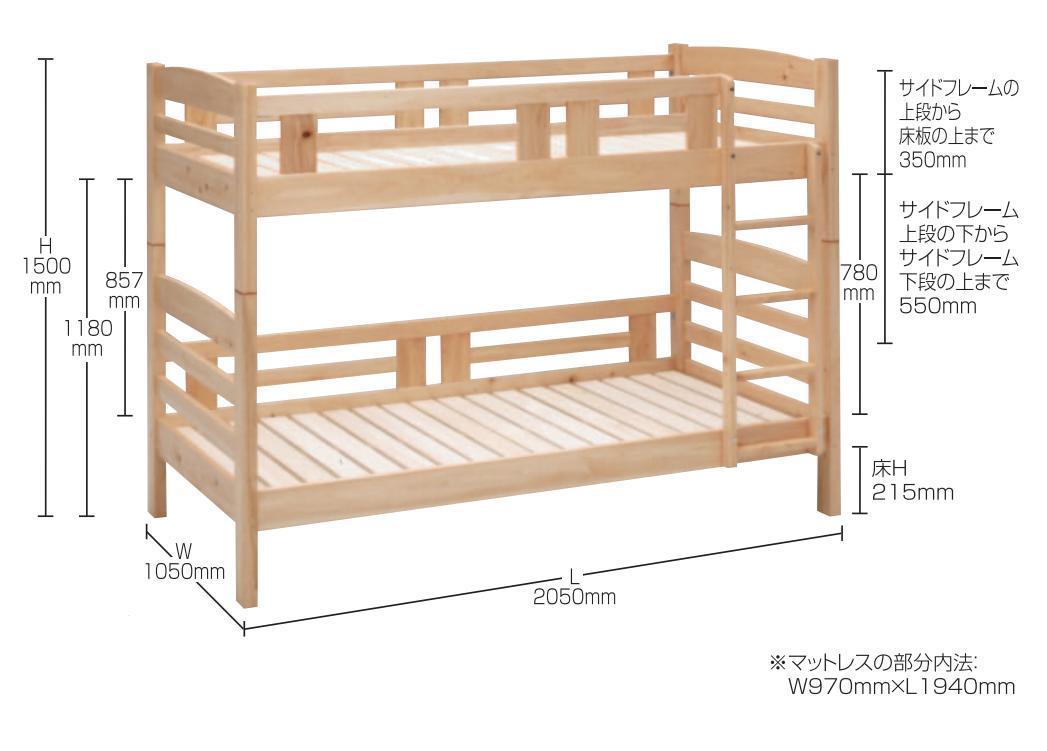 楽天市場】二段ベッド 子供 大人用 2段ベッド 2段ベット 二段ベッド