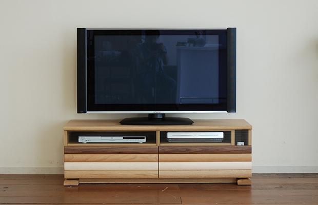テレビボード テレビ台 ローボード AVボード 幅120cm テレビラック グラデーション 木製 完成品