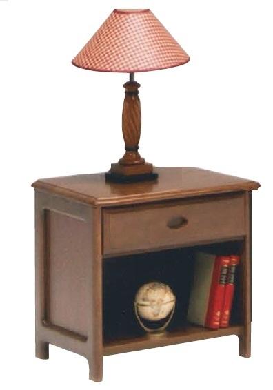 幅45cm ナイトテーブル サイドテーブル 木製/ラバーウッド ブラウン/
