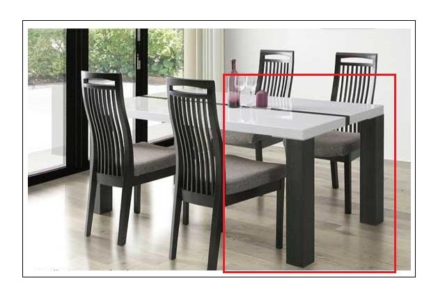 ダイニングテーブル ネバン 幅155cm ホワイト UV塗装 白 モダン 北欧