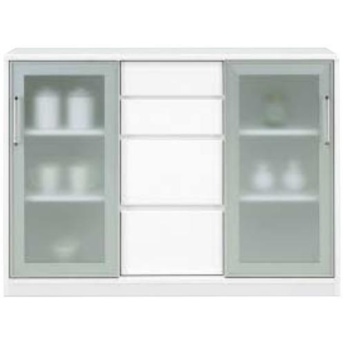 キッチンカウンター 幅120cm スリムカウンター 食器棚 レンジ台 レンジ収納 レンジボード 作業台 ミニ食器棚 収納 収納家具 完成品 ホワイト シンプル