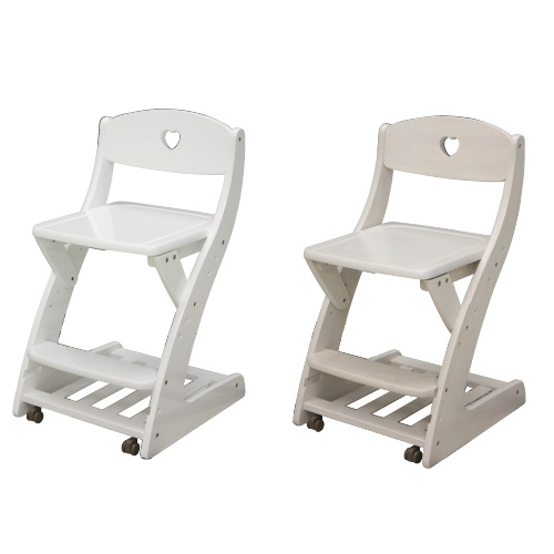 学習チェア 学習イス ジュニアチェア 木製収納棚付き ランドセル置きキャスター付き 勉強椅子 学習椅子 キッズチェア おしゃれ かわいい 白 ホワイト