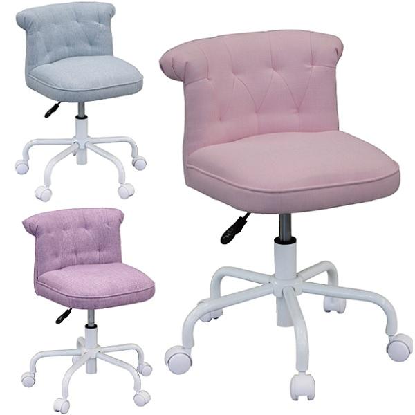 学習チェア プリンセスチェア キャスター付き 布 学習イス 学習椅子 いす姫系 お姫様 子供椅子 子供用 おしゃれ 女の子 かわいい ピンク・パープル5月中旬-下旬入荷予定