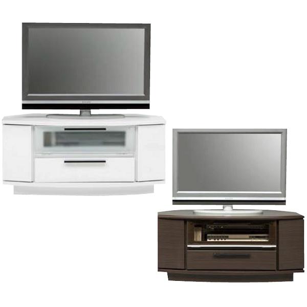 テレビ台 テレビボード ローボード コーナー 引出し1段タイプ 三角 コーナータイプ テレビボード100 ホワイト・ブラウン インテリア収納 収納家具