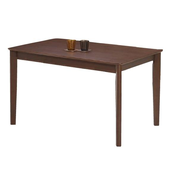 ダイニングテーブル テーブル W120 木製 ラバーウッド材 ブラウン 幅120 食卓テーブル 木製テーブル 4人 北欧 おしゃれ(テーブルのみ)幅120×奥行75×高さ70cm