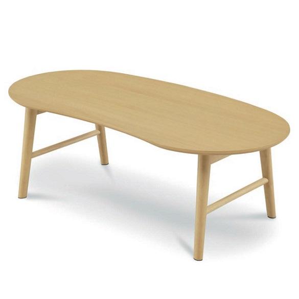 リビングテーブル センターテーブル 幅105cm ローテーブル ビーンズ 豆型 木製 おしゃれ 人気 北欧 ナチュラル