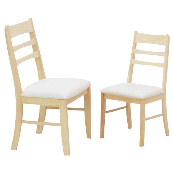チェア ダイニングチェア 2脚セット おしゃれ 椅子 ホワイト&クリアナチュラル 木製チェア チェアー 椅子 人気