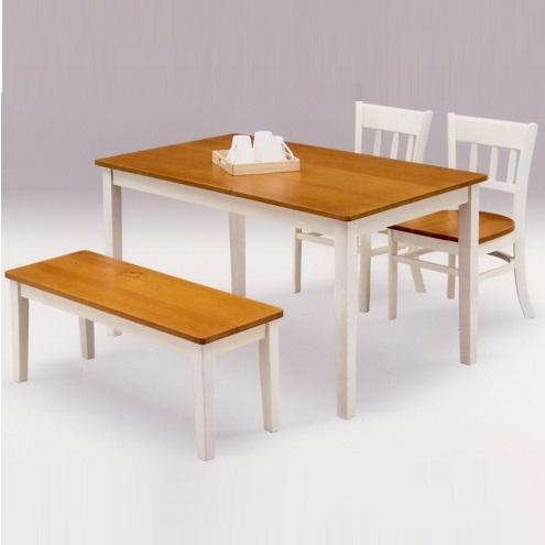 ダイニングテーブルセット ダイニングセット 幅120cm 木製 パイン 食卓セット 低価格化 4点セット ホワイト カントリー おしゃれ フレンチ 人気 北欧 4人用 4人掛け ベンチ 市場