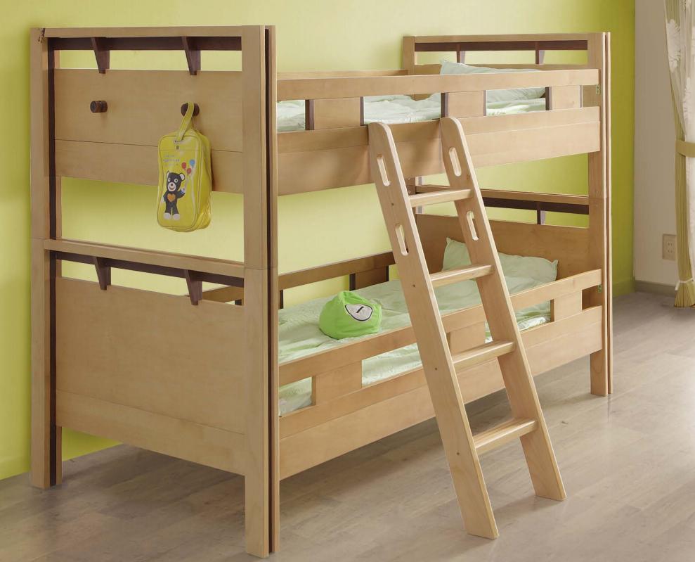 2段ベッド 子供用ベッド 二段ベッド ウォールナット 木製ベッド アルダー かわいい 子供部屋