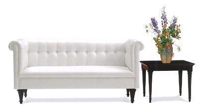 【今すぐ使える割引クーポン発行中】【姫系家具】クラシックホワイトソファー 2人掛け L270