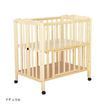 ベビーベッド【パタン】子供用ベッド ベッド ミニベビーベッド 折りたたみ 木製ベッド 大和屋(NA 12月末~1月上旬入荷)