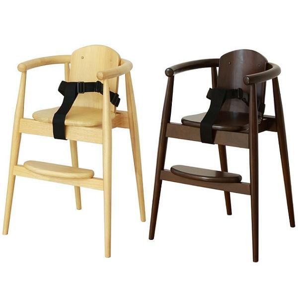 ベビーチェア ベビーチェアー 木製 ハイチェア 子供イス 子供椅子 スタックチェアー(ベルト付き)ハイチェア 木製チェア ナチュラル ブラウン おしゃれ 北欧