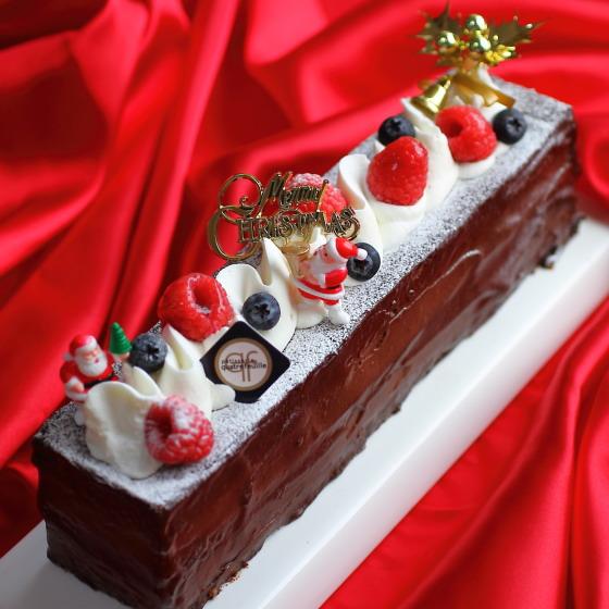 クリスマスケーキ 送料無料 予約 人気 2018 チョコレートケーキ クリスマス石畳(いしだたみ) 27cm(3人-5人分)カトルフィユ 広島 チョコレートケーキ クリスマス パーティー 数量限定 飾り キャラクター ピック