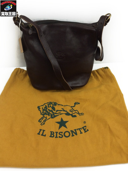 IL BISONTE A0322 ショルダーバッグ こげ茶【中古】[値下]