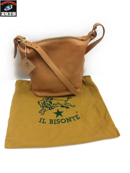 IL BISONTE A1074 ショルダーバッグ Col.120 茶【中古】[値下]