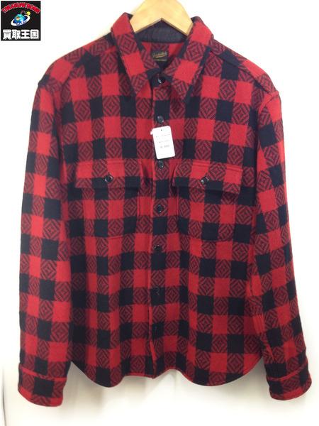 TENDERLOIN (M) BLK/RED ウールブロックチェック ジャケット[▼]:買取王国 店