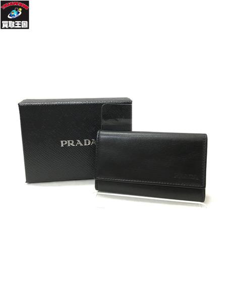 PRADA 6連キーケース ブラック 2M0025 VITELLO BASIC【中古】