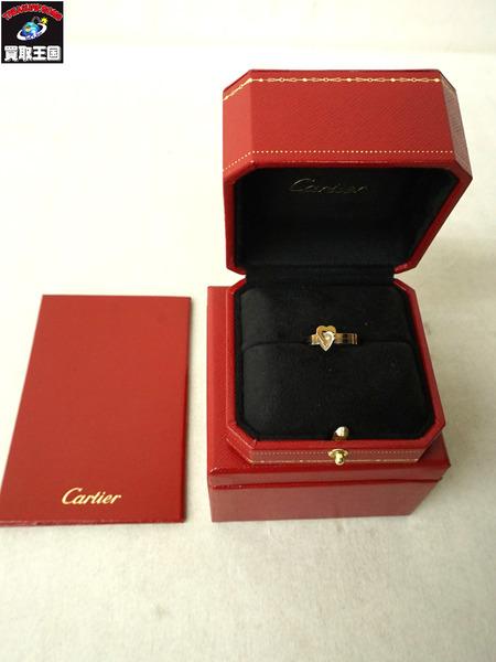 Cartier/カルティエ/2ハートリング/K18WG/K18PG/#9.5/証明書付【中古】[▼]