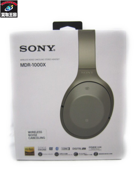 SONY MDR-1000X ヘッドフォン グレーベージュ (欠品有)【中古】[値下]