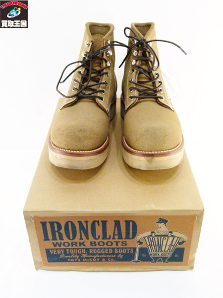 McCOY'S IRONCLAD WORK BOOTS 7E ベージュ【中古】[値下]