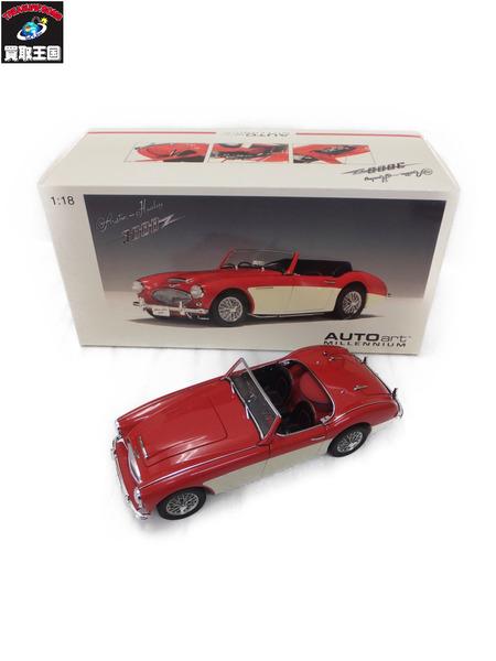 Healey MK2 3000 Autoart Red Austin 1/18 White【中古】[値下] 1961