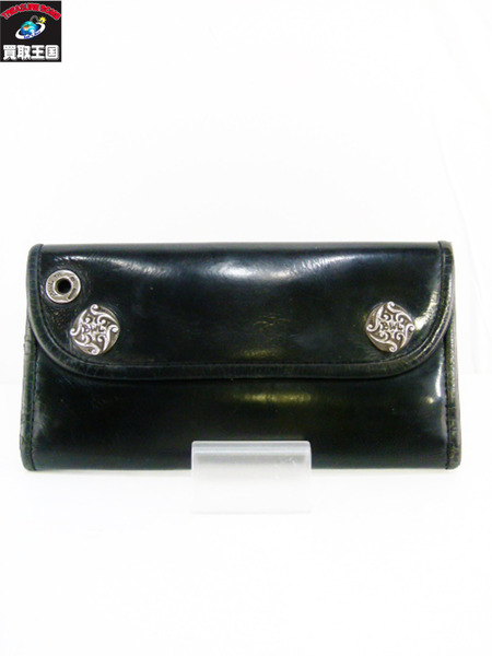 BILL WALL LEATHER レザー ロングウォレット BLK【中古】