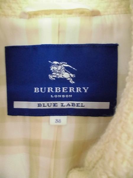 BURBERRY BLUE LABEL バーバリー ウールコート3834qcRjL5A