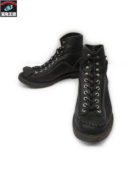 LONE WOLF ブーツ 黒 US8.5 フォルスタン付 1615【中古】[値下]