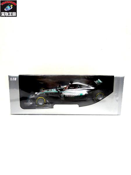 PMA 1/18 メルセデス AMG L Hamilton アブダビGP 2014【中古】