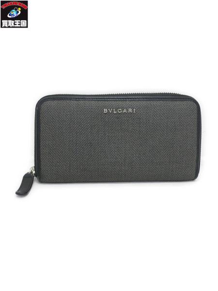 BVLGARI ブルガリ ウィークエンドライン ラウンドジップ 財布【中古】[値下]
