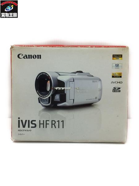 Canon HD ビデオカメラ iVIS HF R11 シルバー【中古】[▼]