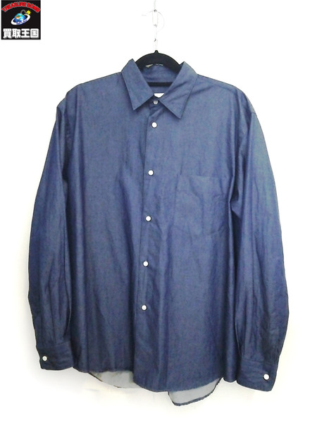 Graphpaper グラフペーパー  Indigo Regular Collar Shirt 17AW SIZE:1【中古】[値下]