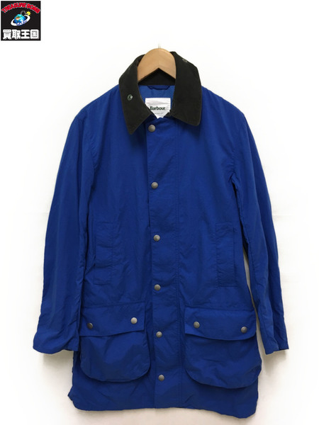 Barbour BEDALE コート/M/ブルー【中古】
