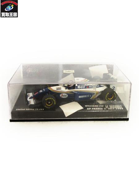 PMA 1/43 ウィリアムズ FW16 ルノー N.マンセル フランスGP 1994 11111台限定【中古】[値下]