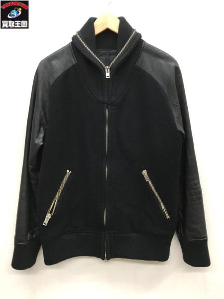 ripvanwinkle 袖レザー切替ジャケット 黒 4 RL-2301【中古】