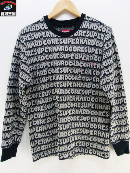 Supreme HARDCORE JACQUARD L/S TOP S【中古】[値下]