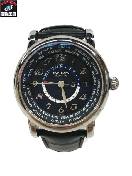 MONTBLANC Star World Time GMT Automatic/シースルーバック AT 109285【中古】