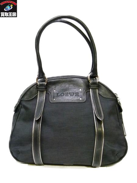 LOEWE ハンドバッグ 340807 黒 ブラック ロエベ【中古】