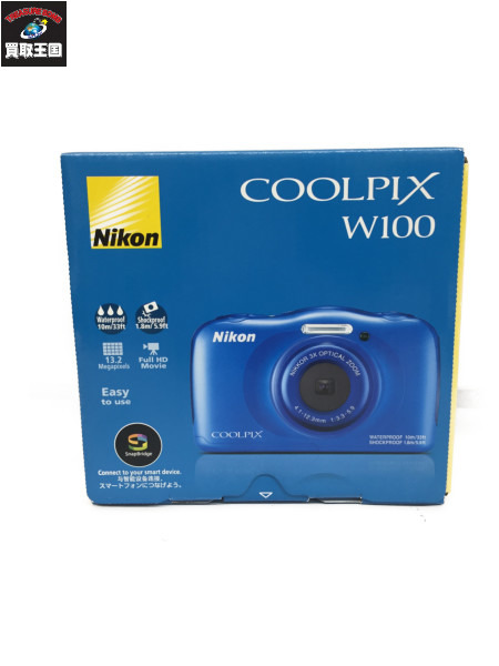 Nikon COOLPIX W100 青 ニコン コンパクトデジタルカメラ【中古】