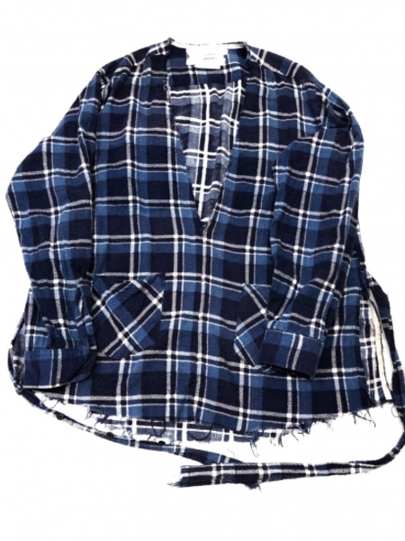 OLD PARK チェックシャツ OLD ブルー SIZE-【中古 ブルー】, web-carshop:df8f8c21 --- finfoundation.org