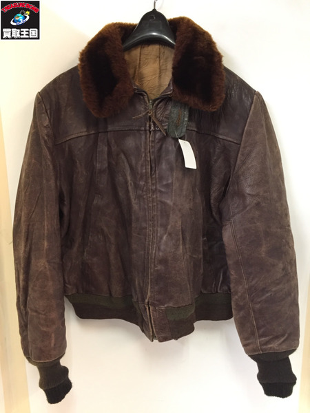 50s UNKNOWN Leather Jacket (-) BRN【中古】