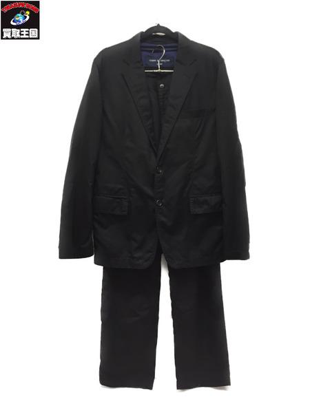 COMME des GARCONS HOMME AD2007 セットアップスーツ BLACK 上S/下L【中古】